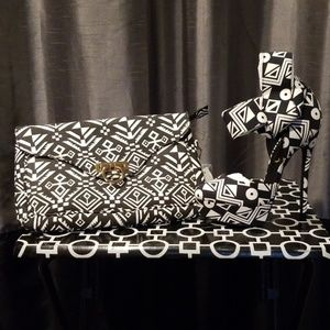 Privileged Stiletto Shoe and Wristlet Bag
